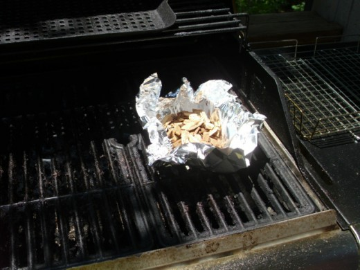 Soaked Wood Chips In a Foil Pouch