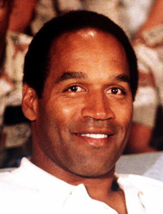 O.J. Simpson was acquitted in '95 for the butal murders of his wife, Nicole, and her friend, Ron Goldman. He is now serving a 33 year sentence for other crimes.
