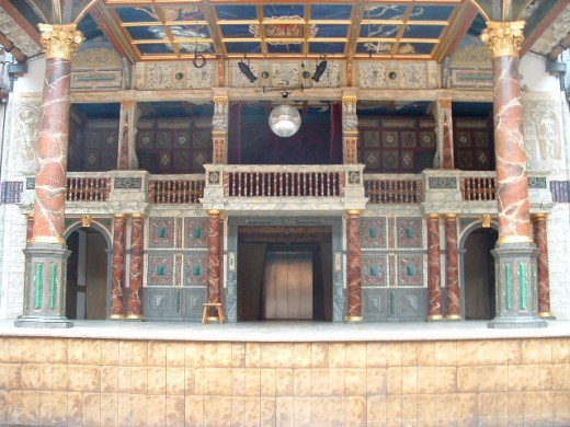 The stage at the Globe Theater