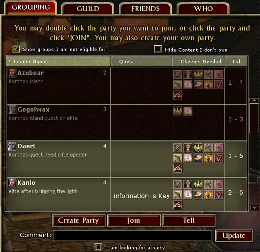 Social popup menu