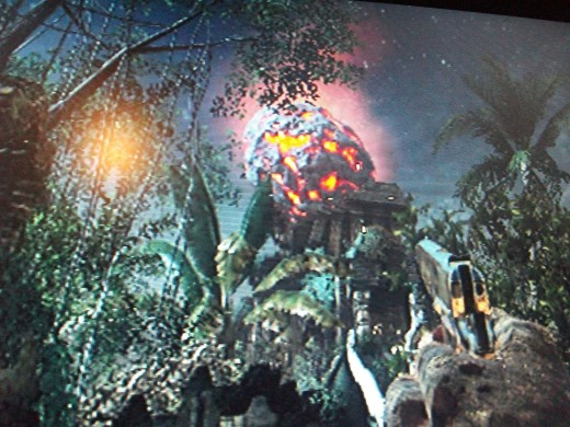 "The Tunguska Meteor from the ""Time Travel Will Tell"" mega easter egg."