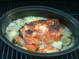 Closer Look at the Pork Loin Roast once it is cooked