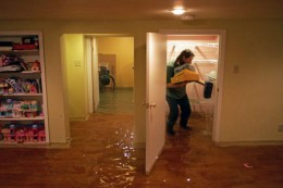 Flood Damaged Home - What to do in case of a flood to protect your property from further damage.