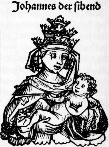 The Female Pope - Pope Joan as depicted in the Neurenburg Chronicles