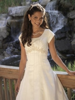 Wedding dresses are meant to show purity and beauty