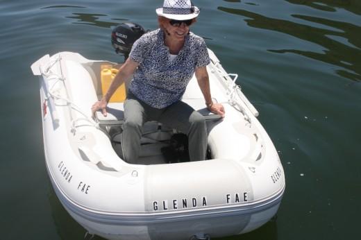 """Captain """"Glenda Fae!"""" Holding on for dear life!"""