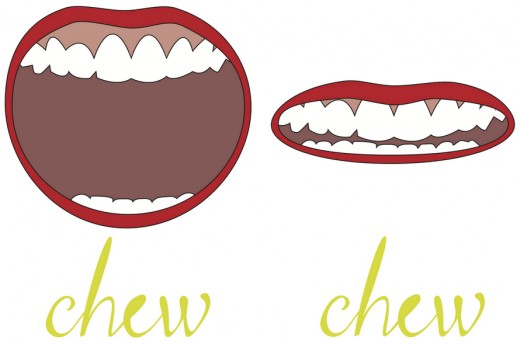 Digestion starts in the mouth, chew foods until it is like ketchups sauce in your mouth. Proper chewing promotes better digestion prevents gas and bloating.