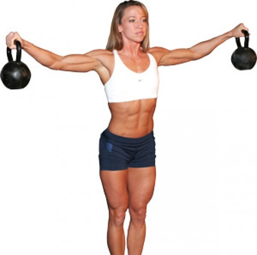 Lose Arm Fat with Kettlebells