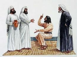 Jesus rebukes.