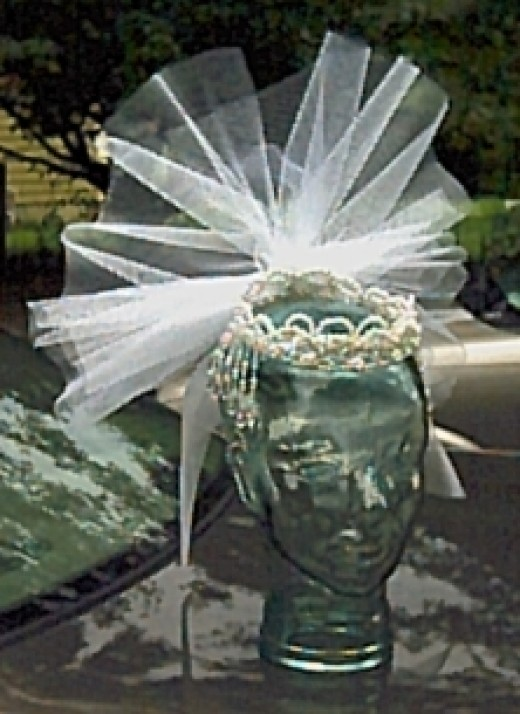 Wedding Crown with addition of netting. Another design that I created.