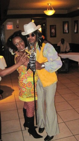 Hubby and I at a 70's party for his family reunion.