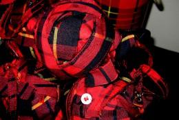 Plaid Fabric Decor Balls