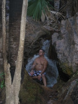 Relax under the falls