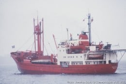 The Danish Lauretson Line's Ice-reinforced ship, Thala Dan.   Her sister, Thala Dan was just another of my experiences.