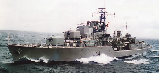 She went under the bows of HMAS Melbourne and thus began a legend.