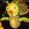 Fruit and Vegetable Carving Pineapple Bear