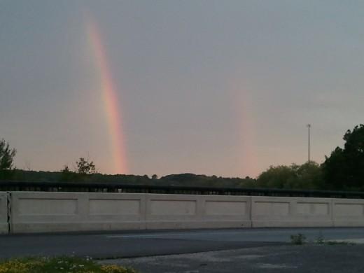 Rainbow at sunrise, by MarloByDesign