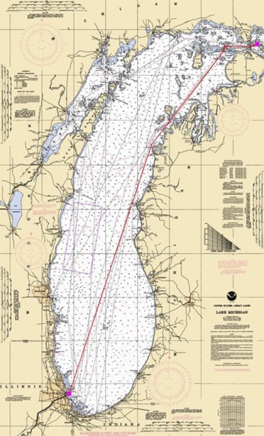 The Chicago to Mackinac course.