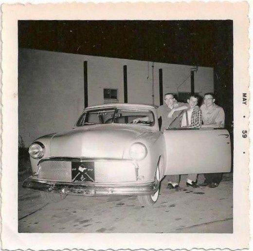 Original Members of Hi-Winder Hot Rod Club L to R: The Author, Larry Miller, Jerry Leman Photo by Dennis Tucker  (circa 1959)
