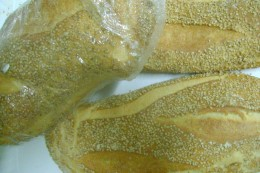 Sicilian Bread made from Grano Duro (Hard Wheat) and sprinkled with sesame Seeds.