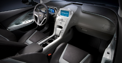 The interior of the Chevy Volt