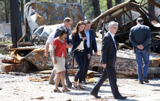 The Duke and Duchess visit the fire-devastated town of Slave Lake