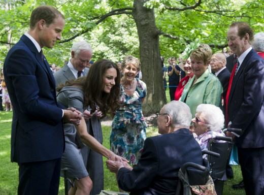 The Royal couple greet people after a ceremonial tree planting at Rideau Hall in Ottawa