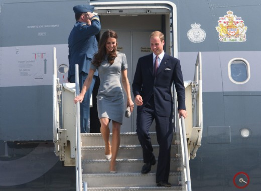 The Duke and Duhess arrive at Montreal's Pierre Elliott Trudeau International Airport