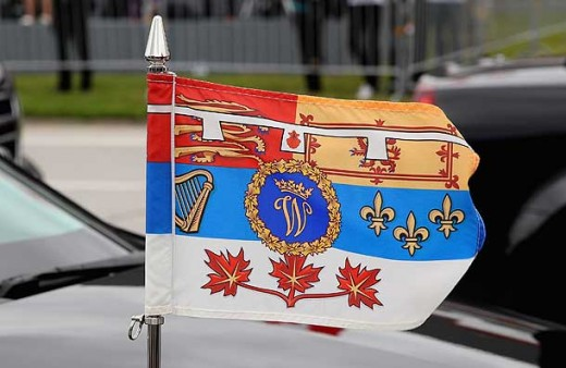 Prince William's new flag flew on their official car