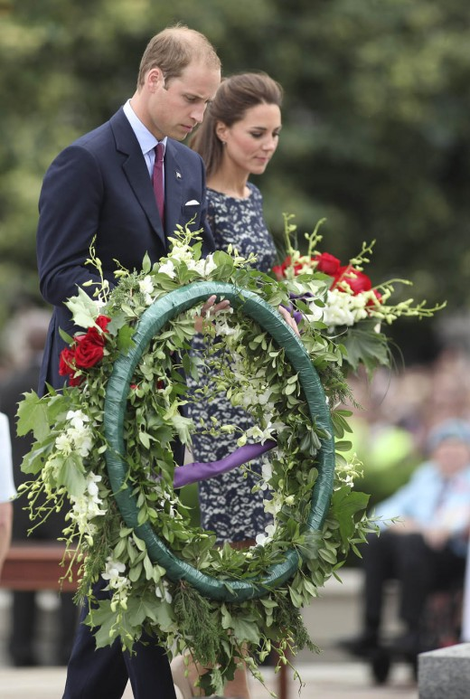 The Duke and Duchess at the National War Memorial in Ottawa