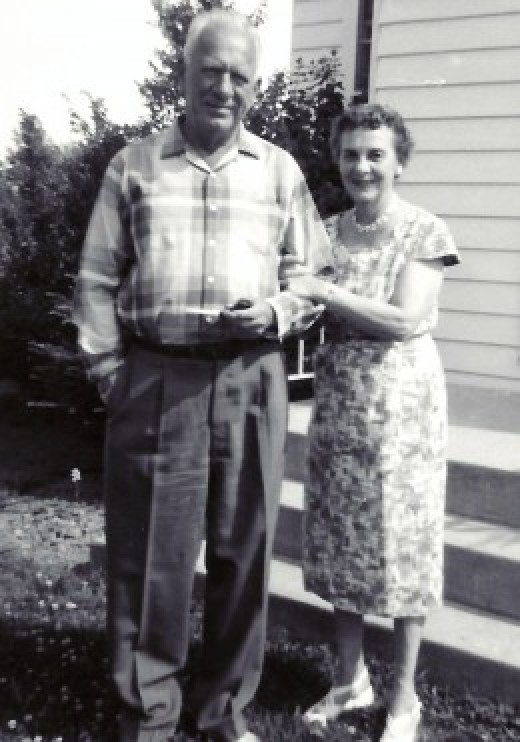 My grandparents...the same grandmother who was featured in this hub.