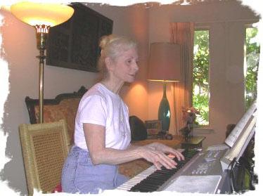at my Yamaha Grand Piano keyboard