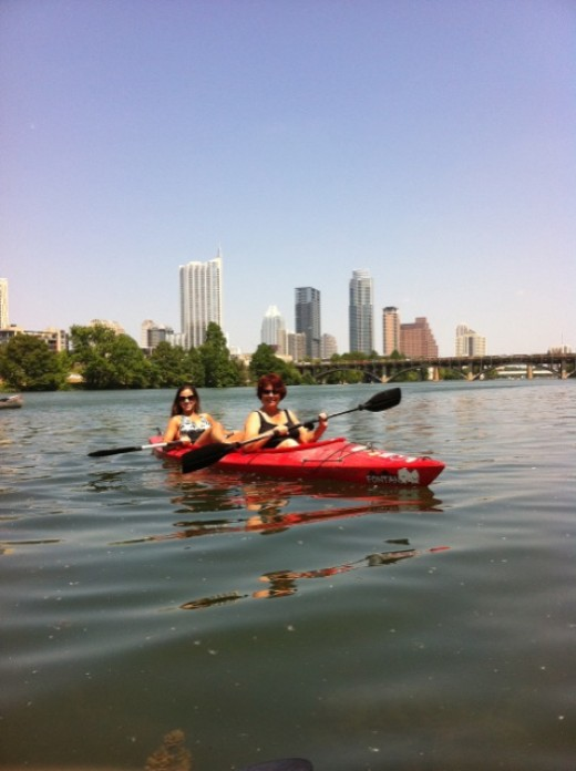 Kayak on the River Lady Bird Lake Austin TX