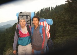 Hiking in a national park is a fun and healthy outdoor activity