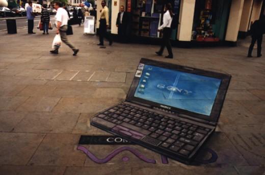 sidewalk chalk 3-D art