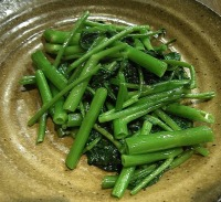 Water spinach ready to eat