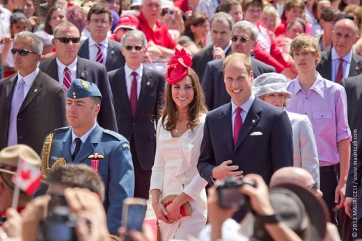 The Duke and Duchess on Parliament Hill for Official Canada Day celebrations in Ottawa on July 1, 2011