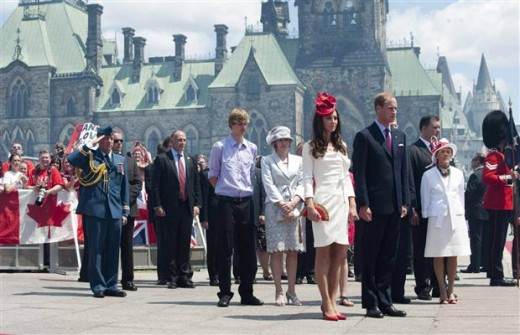 The Duke and Duchess  take part in Canada Day celebrations in Ottawa