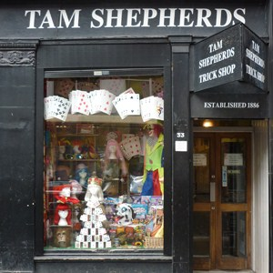 Tam Shepherds Trick Shop in Glasgow