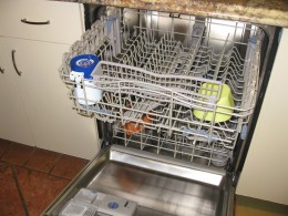 As you can see, it doesn't take up much room in the dishwasher.