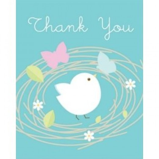 Nesting Birds Thank You Notes