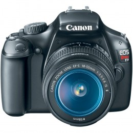 Canon Rebel 1100D - front view