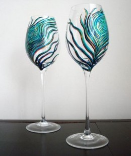 Hand Painted Wine Glasses Unique Gifts For Wine Lovers