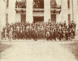 Members of the Alabama Reconstruction Legislature on the steps of the Capitol in Montgomery, Alabama