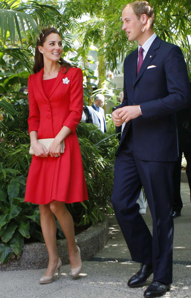 The Duke and Duchess tour the ENMAX Conservatory at the Calgary Zoo in Calgary