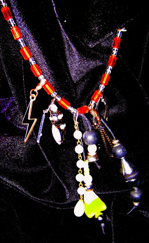 Hand Crafted Halloween Necklace