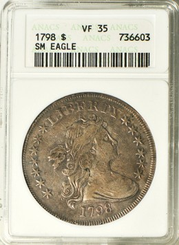 The Draped Bust Dollar: minted for less than a decade.