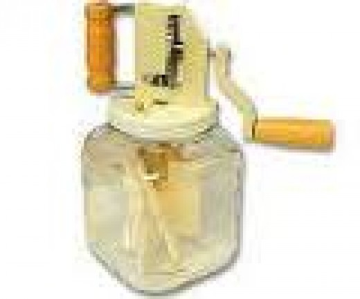Glass Butter Churn