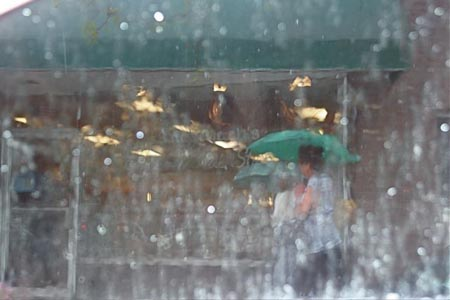 It was VERY rainy - photo from baristanet.com
