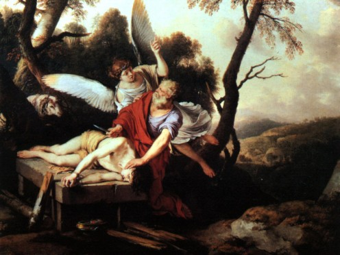 Abraham Sacrificing Issac  by Laurent de La Hire (1650)  Muse des Beaux Arts dOrlans